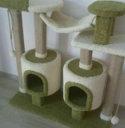 Complex for cats with a kittens and a hammock