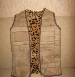 new sheepskin waistcoat