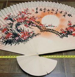 Walled wood 96x155cm fan feng shui interior