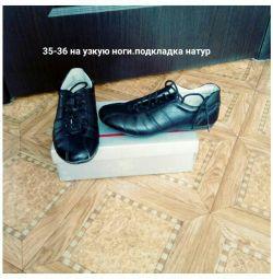 Dar bir ayak üzerinde ayakkabılar p 35-36