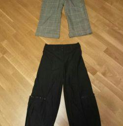 Пара хиповых не стандартных штанов 34р.
