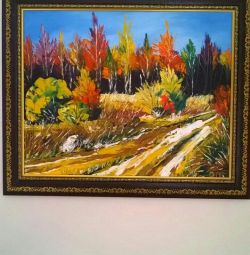 Bright oil painting 40/50 in the frame