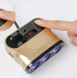 2 Διαχωριστής φορτιστή αυτοκινήτου USB 3Α