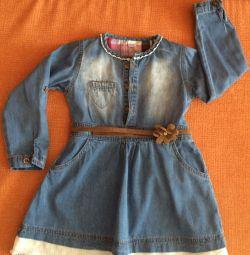 Джинсова сукня р-104