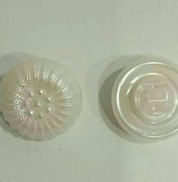 Κουμπιά πλαστικά κάτω από μαργαριτάρι 15mm