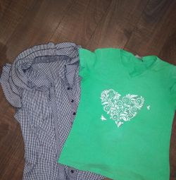 T-shirt and blouse