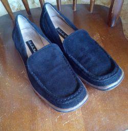Kadın süet ayakkabılar, Michelle Helly, 40 boyut.