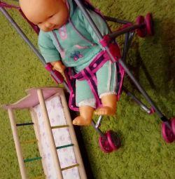 Stroller + cot + doll
