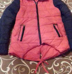 Demi-season jacket for girls 6-9 years old