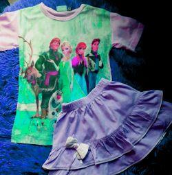 T-shirt + fusta