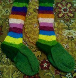 Örgü diz çorapları