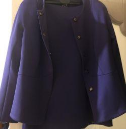Костюм пиджак и юбка производство Франция