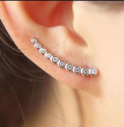 Silver Cuff Earrings