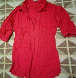 Bluz - tunik gömlek rengi mercan p.44