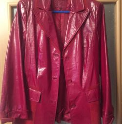 Leather jacket (lacquer with suede)