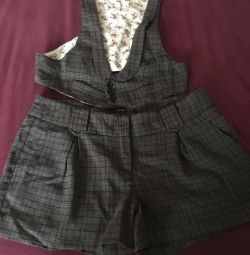 Set of shorts vest