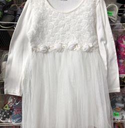 Zarif beyaz elbise! Malların ortadan kaldırılması!
