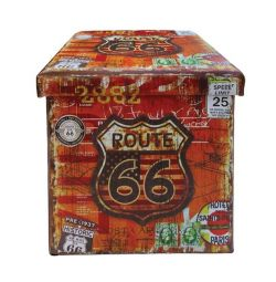 PU STOCK WITH ROUTE 66 38X38X STORAGE ROOM