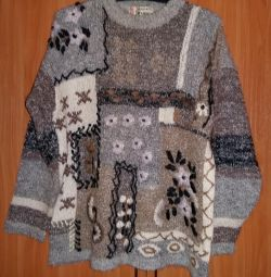 Women's cardigan size 50 52 gray warm with a pattern