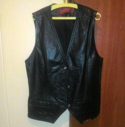 Waistcoat made of genuine leather