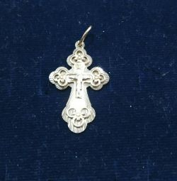 Gold pendant in the shape of a cross