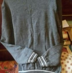 The sweater is dark gray, wool, size 48-50.
