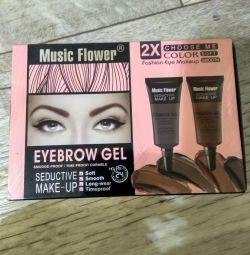 Eyebrow gel + brush.