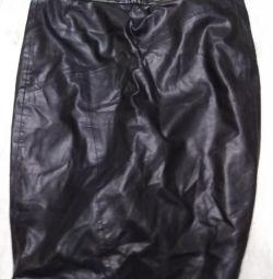 Skirt leather