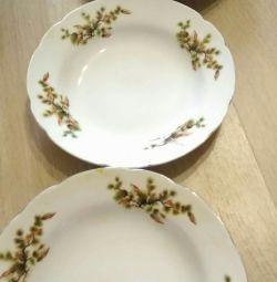 Суп.тарелки.Япония,фарфор 2 шт.