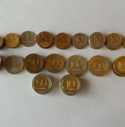 Monede 91-93 ani