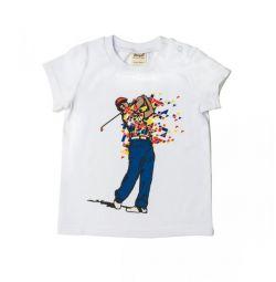 T-shirt Νέο Γκολφ, μπλε