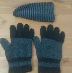 Reebok του καπέλου, τα γάντια του ανθρώπου