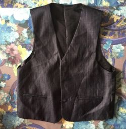 School vest on the boy