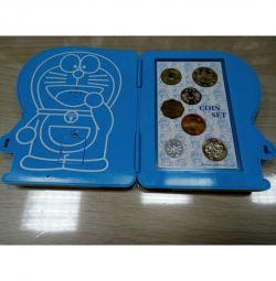 Set de suveniruri de 7 monede (Japonia) muzicale
