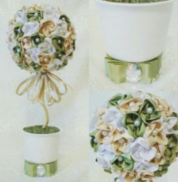 Handmade Ribbon Topiary?