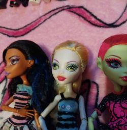 3 куклы Монстер хай. Хорошее состояние