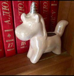 Unicorn Casket Figure