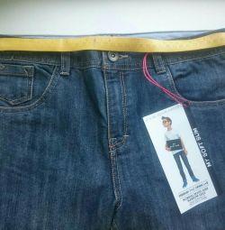 Новые джинсы на стройного мальчика, р. 164