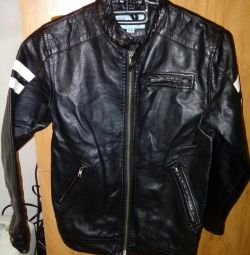 Eco-leather jacket height 128