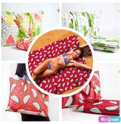 Beach mats with a handbag