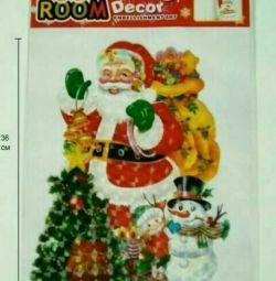 Панно - наклейка Дед Мороз, новый год
