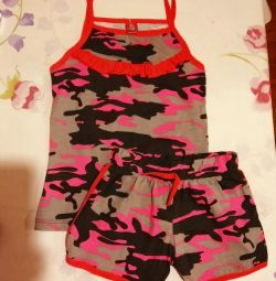 New Top and shorts for girls, new