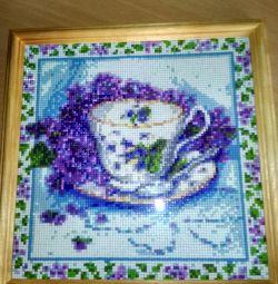 Картина в технике алмазная мозаика 25×25см