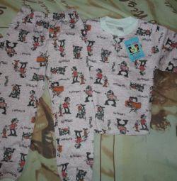 yeni boyut için pijamalar - 56,98,104,110.
