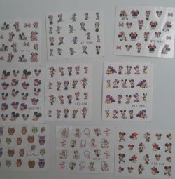 Mickey Mouse and Minnie - Water Nail Stickers