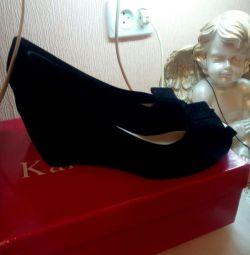 New velvet shoes.