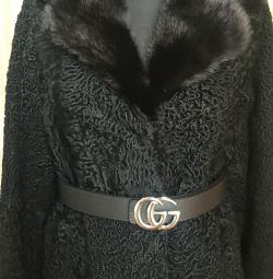New imported Astrakhan fur coat exclusive