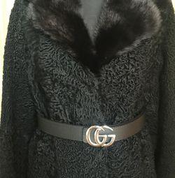 Νέα εισαγόμενη Astrakhan γούνα παλτό αποκλειστική