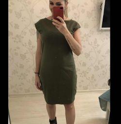 Νέο πλεκτό φόρεμα khaki 46/48