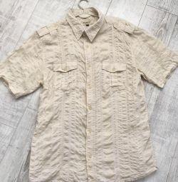 Shrinkable cotton men's shirt
